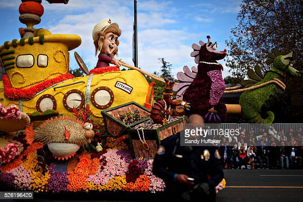 A float during the 124th Annual Tournament of Roses on Monday January 1 2013 in Pasedena CA The Parade also known as the Rose Bowl Parade featured...