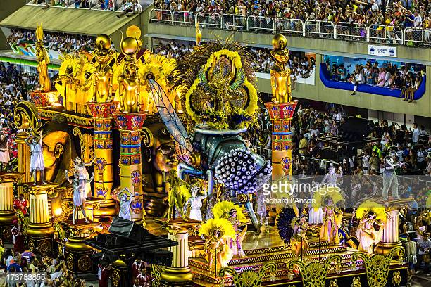 Float in Samba School Parade at Carnaval