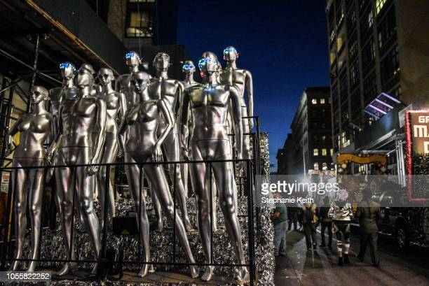 A float is seen before the start of the annual Village Halloween parade on Sixth Avenue on October 31 2018 in New York City