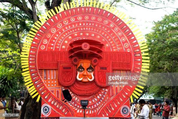 Float of theyyam theyam during onam celebration, Trivandrum, Kerala, India