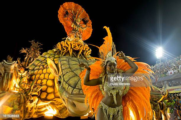 A float of Unidos de Vila Isabel during Carnival 2013 at Sambodrome Marques da Sapucai on February 12 2013 in Rio de Janeiro Brazil