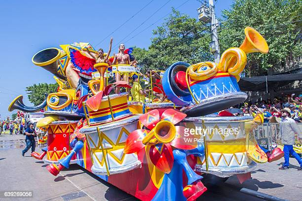 Float parade in the Barranquilla Carnival in Barranquilla Colombia Barranquilla Carnival is one of the biggest carnival in the world