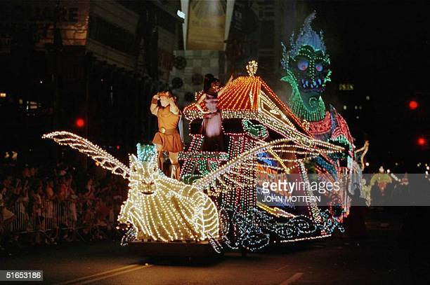 A float passes down 42th Street in New York during a parade for the release of Disney's animated movie Hercules 14 June The parade caused much of the...
