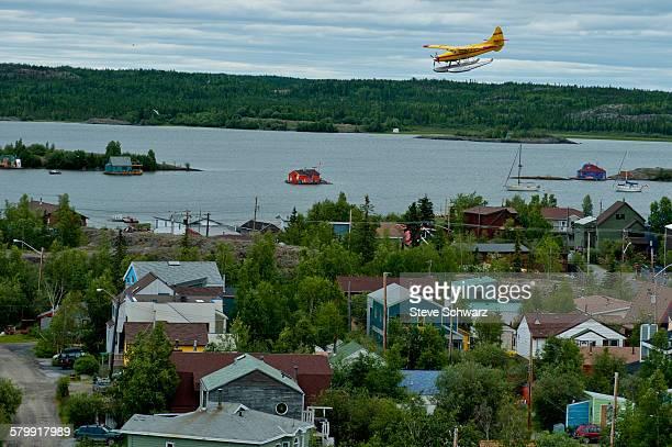 Float plane landing in Yellowknife
