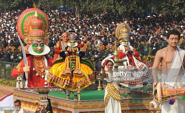 A float representing the Indian state of Kerala rolls past during the Republic Day parade in New Delhi on January 26 2011 India celebrated its 62nd...