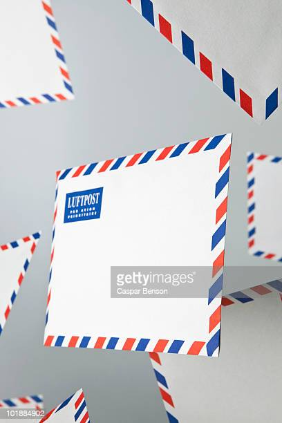 Floating air mail envelopes