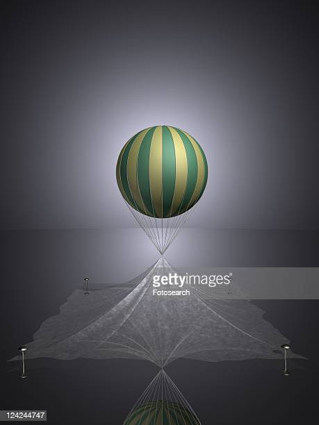 Floating balloon in stripes