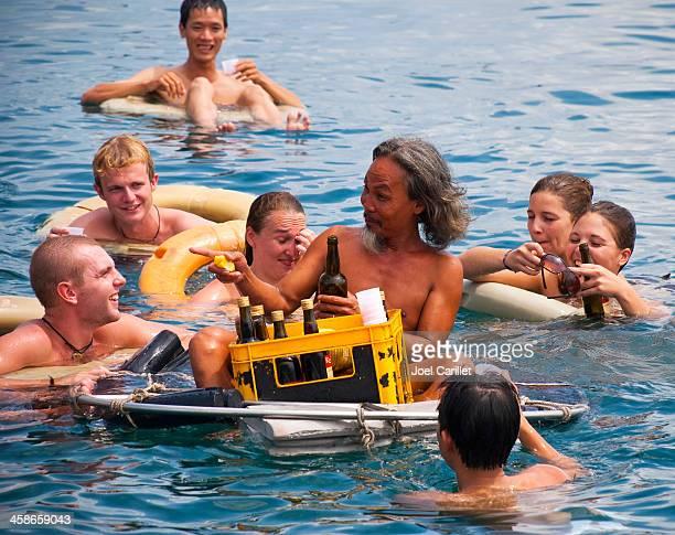 Floating bar boat trip in Nha Trang, Vietnam