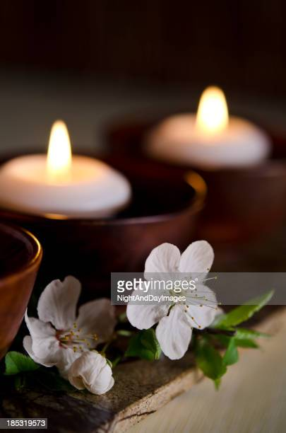 Floating Candles in a Zen Spa