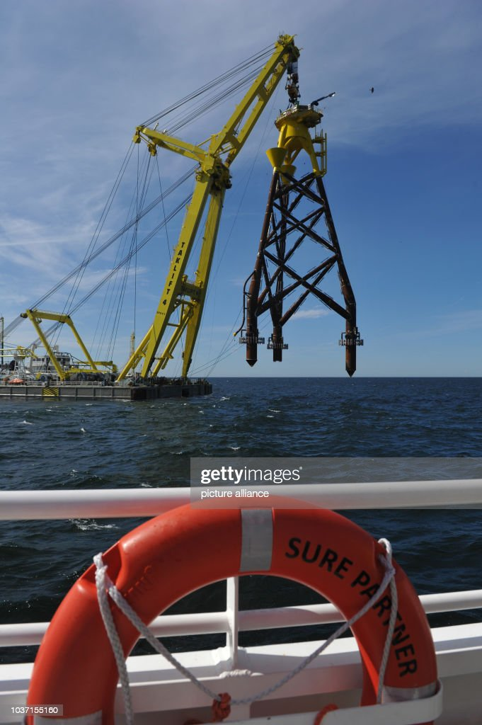 Offshore wind park EnBW Baltic 2 in the Baltic Sea : News Photo