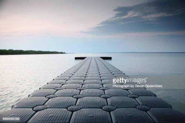 Floating Dock in Evening Sunset