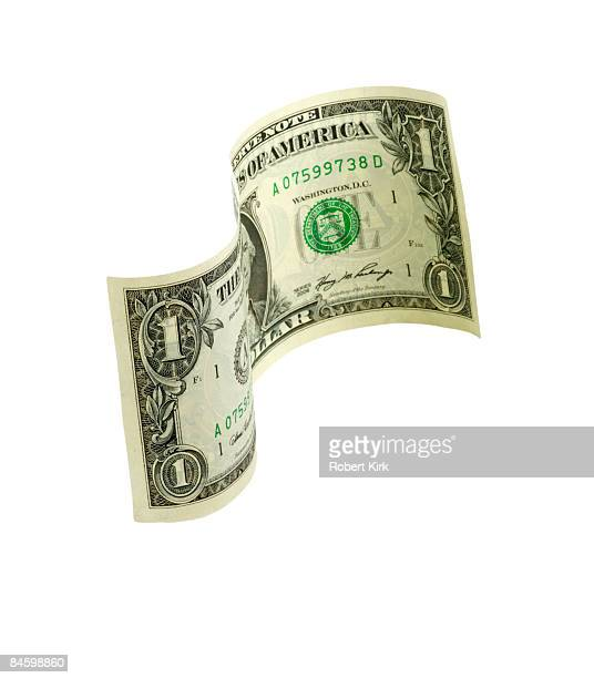 floating dollar - american one dollar bill stock pictures, royalty-free photos & images