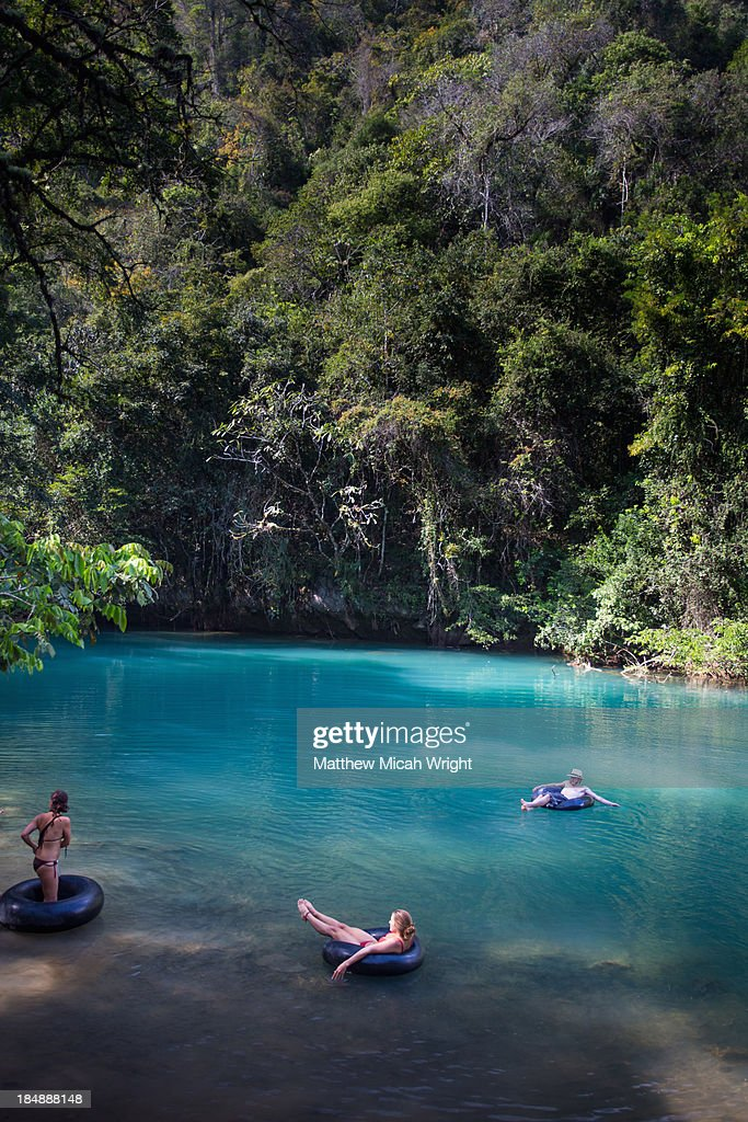 Floating Down River In An Inner Tube Stock Photo - Getty Images