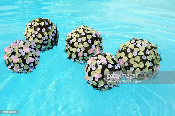 Floating flowers  on water