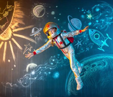 Floating free in space - gettyimageskorea
