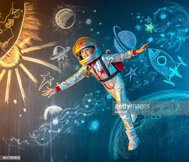 Flutuante no espaço livre