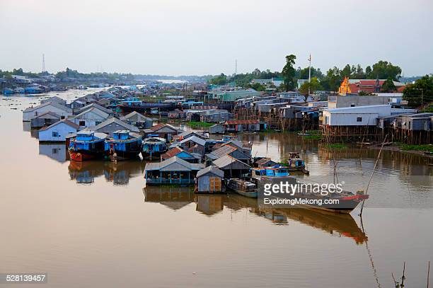 floating house - floating market stock photos and pictures
