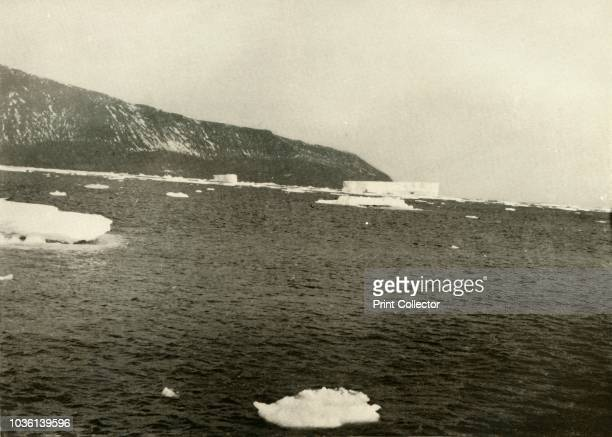 Floating Ice off Cape Adare' circa 1908 AngloIrish explorer Ernest Shackleton made three expeditions to the Antarctic During the second expedition...