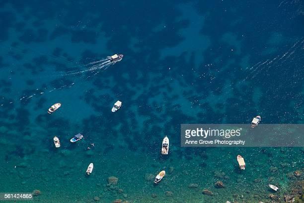 Floating in Capri's waters