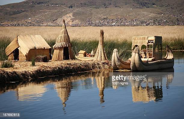 Schwimmende Insel Titicaca Peru