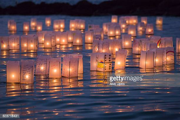 Floating lantern ceremony to remember departed