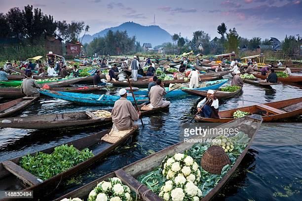Floating market on Dal Lake.