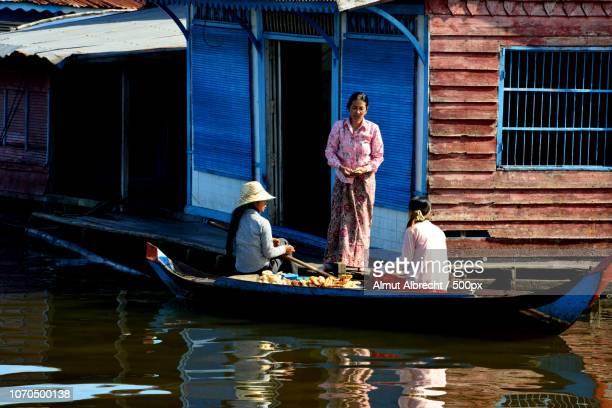 floating market on the Sangker River