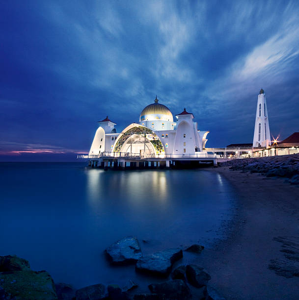 Floating Mosque at sunset