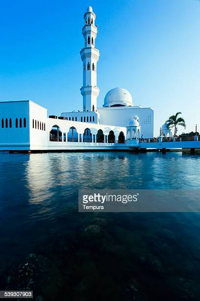 Floating mosque in Kuala Terengganu, Malaysia.