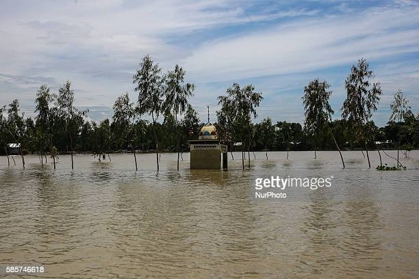 A floating mosque in the flooded water at Noyapara Jamalpur Bangladesh Jamalpur is a northern district of Bangladesh surrounded by river Yamuna and...