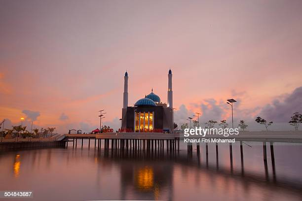 Floating Mosque With Sunset