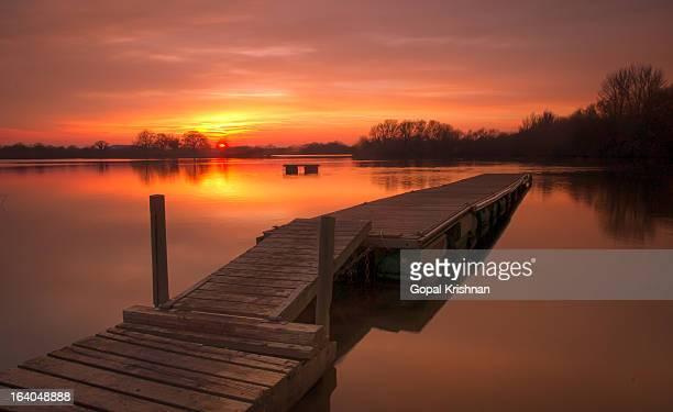 Floating Pier - Winter Sunset