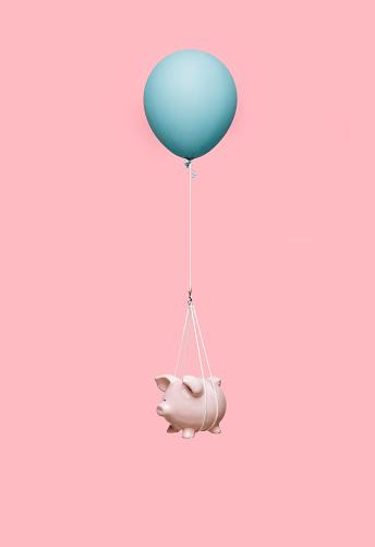 Floating Piggybank - gettyimageskorea