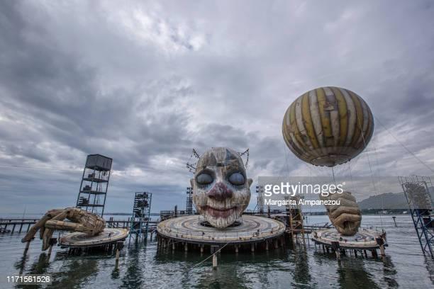 floating stage in lake constance - bregenz fotografías e imágenes de stock