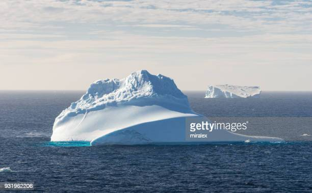 Floating Tabular Icebergs in Antarctic Sound