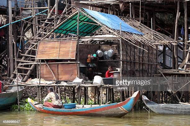 Schwimmende Dorf auf dem Tonle Sap, Kambodscha