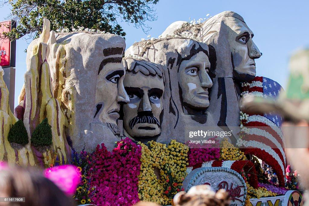 Floats at the 127th Rose Parade in Pasadena CA : Stock Photo