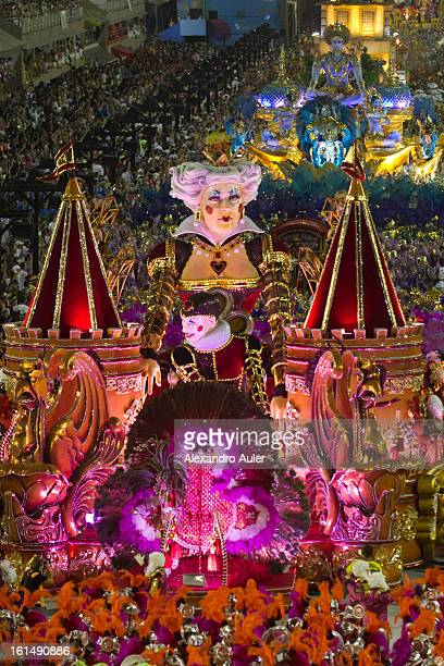 Floats dancers and musicians of São Clemente Samba School during the opening parade whose theme Horario Nobre tells in chapters the story of several...