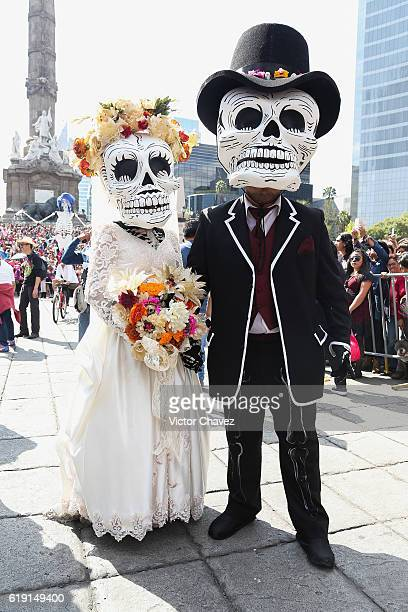 Floats depicting Catrinas and other death related characters and offerings march during the first Big Parade of the City to celebrate the Day of the...