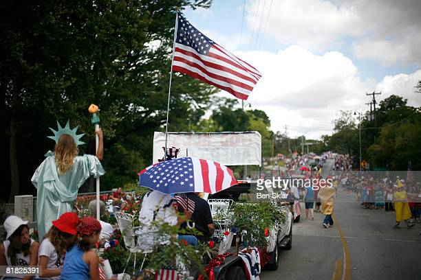 Floats make their way through town during the Independence Day parade July 4 2008 in Wimberley Texas The United States declared independence from the...