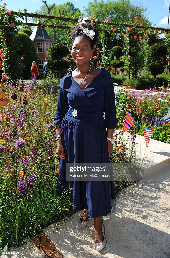 Floella Benjamin attends Chelsea Flower Show press day at Royal Hospital Chelsea on May 23, 2016 in London, England. The show, which has run annually since 1913 in the grounds of the Royal Hospital Chelsea, is open to the public from 24-28 May.