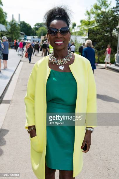 Floella Benjamin attends RHS Chelsea Flower Show press day at Royal Hospital Chelsea on May 22 2017 in London England