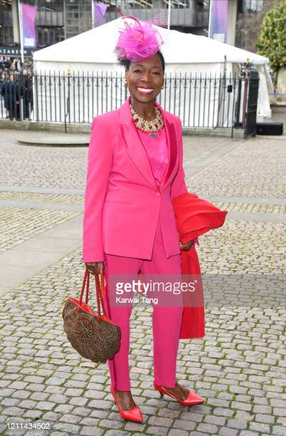 Floella Benjamin attends the Commonwealth Day Service 2020 at Westminster Abbey on March 09 2020 in London England