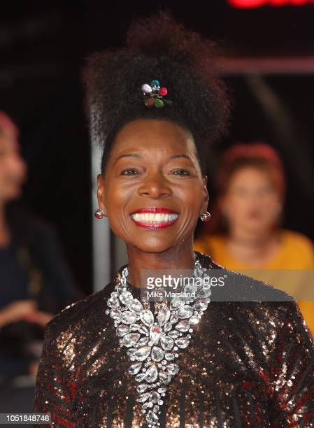 """Floella Benjamin attends the European Premiere of """"Widows"""" and opening night gala of the 62nd BFI London Film Festival on October 10, 2018 in London,..."""