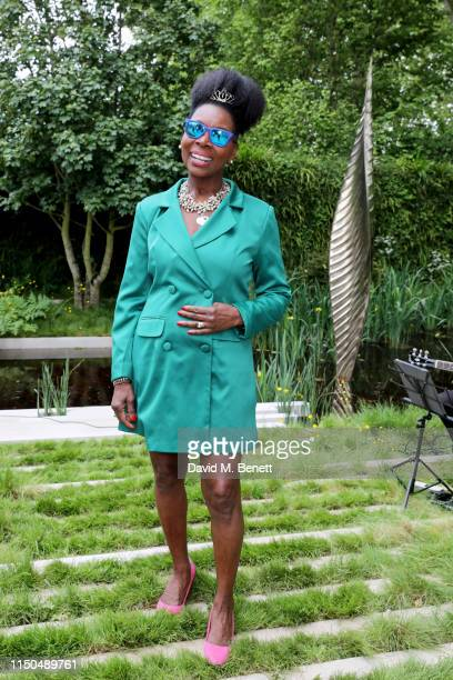 Floella Benjamin OBE attends 'The Savills and David Harber Garden' which celebrates the environmental benefit and beauty of trees plants and gardens...