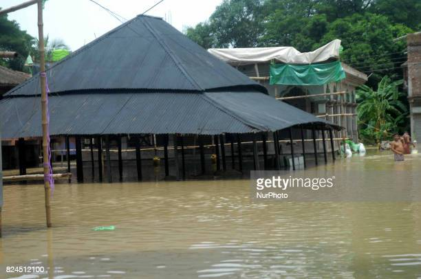 Flood affected Ghatal on July 29 2017 near Kolkata India Flood situation in Bengal got worse on Saturday after Damodar Valley Corporation released...