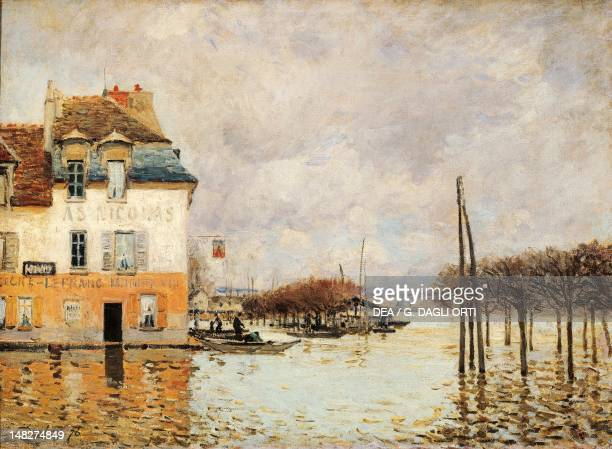 Flood at PortMarly by Alfred Sisley oil on canvas 60x81 cm Paris Musée D'Orsay