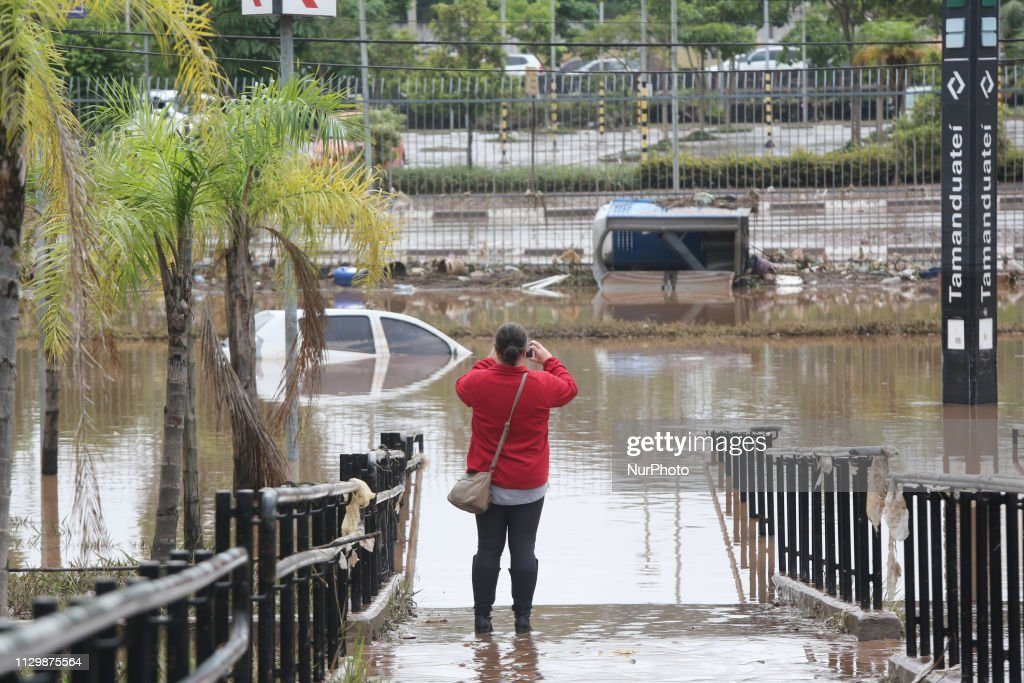 Flood In Sao Paulo : News Photo
