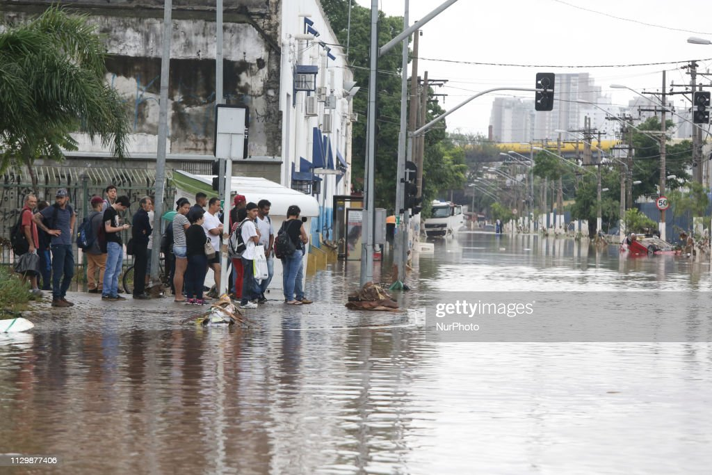 Flood In Sao Paulo : Foto jornalística