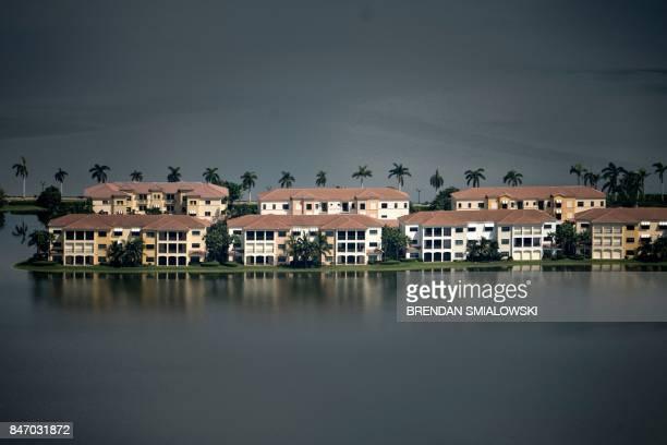 TOPSHOT Flood damage from Hurricane Irma is seen September 14 2017 in Naples Florida / AFP PHOTO / Brendan Smialowski